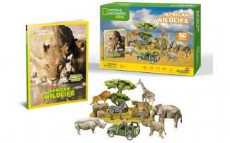 National Geographic - African Wildlife 69pcs 3D Puzzle