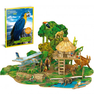 National Geographic Kids - Amazon Rain Forest 67pcs 3D Puzzle