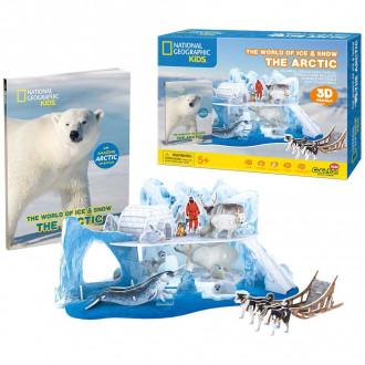 National Geographic Kids - The Arctic 73pcs 3D Puzzle