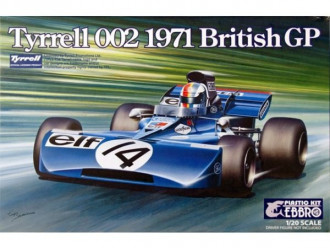 1/20 EBBRO Tyrrell 002 British GP 1971