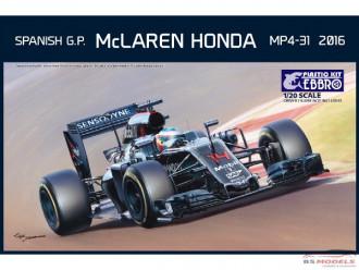 1/20 EBBRO McLaren Honda MP4-31 Spanish GP