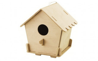 Bird House with Paints - Closed