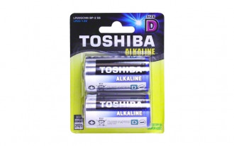 Toshiba D Blue-Line Alkaline Batteries (2)