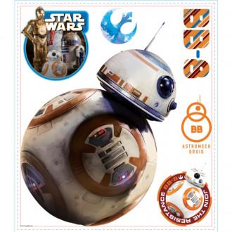 Star Wars BB-8 Peel & Stick Giant Wall Decal