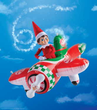 Scout Elves At Play - Peppermint Plane Ride