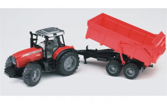 Massey Ferguson 7480 Tractor with tipping trailer