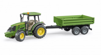 John Deere 5115M with tipping trailer