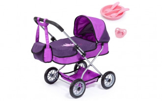 Smarty Doll's Pram Set with Bag & Accessories - Purple
