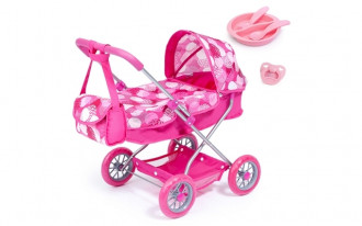 Smarty Doll's Pram Set with Bag & Accessories - Pink