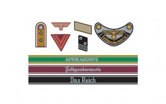 1/35 WWII German Insignia Decal Set Africa/Waffen