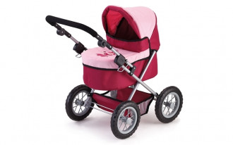 Trendy Doll's Pram (Pink/Red)