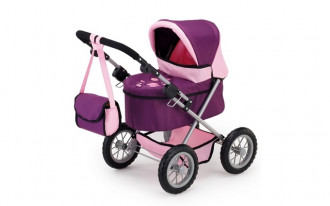 Trendy Doll's Pram (Purple/Pink)