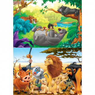 Animal Friends Wooden Puzzles (2x50pc)