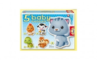 Baby Animals Puzzles (5 Asst)