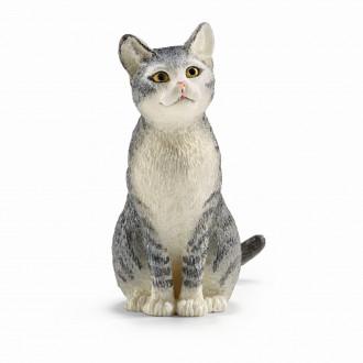 Farm World - Cat, sitting (4.5cm Tall)