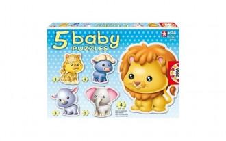Baby Wild Animals Puzzles (5 Asst)