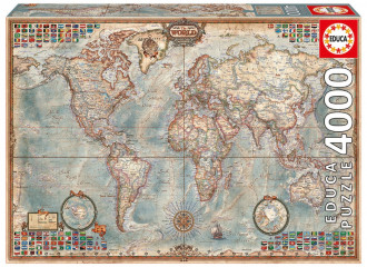 Historic World Map (1x4000pc) Puzzle