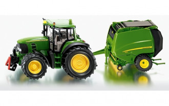 John Deere Tractor with Baler
