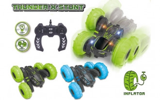 R/C Thunder X Stunt Car with Inflatable Tyres (2 Assorted)