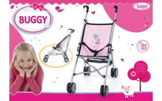 Buggy Doll's Pram (Pink/Grey)