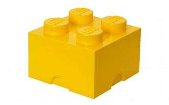 LEGO Storage Brick 4 Knob (25cm)  - Yellow