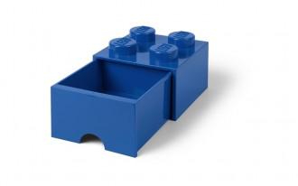 LEGO Brick Drawer 4 Knob (25cm) - Blue