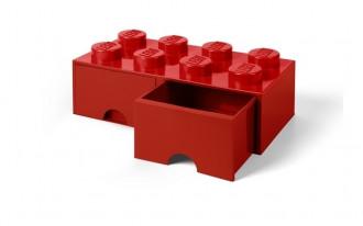 LEGO Brick Drawer 8 Knob (50cm) - Red