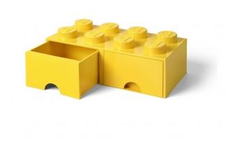 LEGO Brick Drawer 8 Knob (50cm) - Yellow