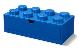 LEGO Desk Drawer 8 (32cm) - Blue