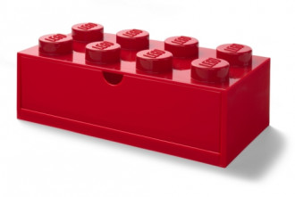 LEGO Desk Drawer 8 (32cm) - Red