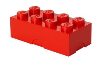 LEGO Lunch Box 8 Knob (20cm) - Red