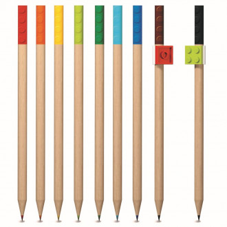 LEGO Coloured Pencils with Toppers (9pcs)