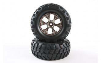 Rock Block Tyres with Taper 6-Spoke Wheel (2)