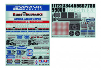 1/14 R/C Racing Truck Stickers