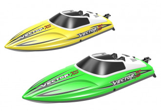R/C Vector XS Brushed Boat with Battery & USB Charger