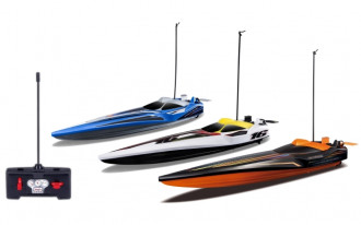 R/C Hydro Blaster Speed Boat without Batteries (3 Assorted)