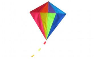 Diamond Kite Single Line (Multi-colour) 82x88cm