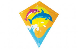 Diamond Kite Single Line (Dolphin) 60x70cm
