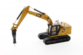 1/50 CAT 323 Hydraulic Excavator with 4 Tools High-Line