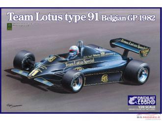 1/20 EBBRO Team Lotus Type 91 Belgian GP 1982