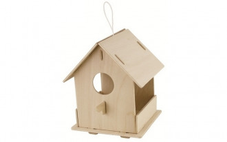 Bird House with Paints - Open