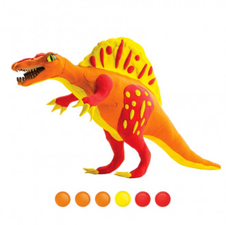 3D Wooden Puzzle with Clay - Spinosaurus