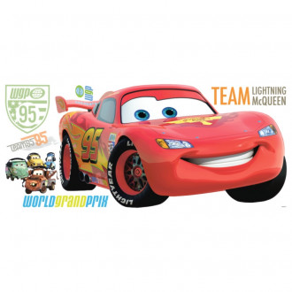 Cars 2 Peel & Stick Giant Wall Decal