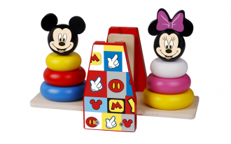 Disney Wooden Balance Stacker - Mickey Mouse