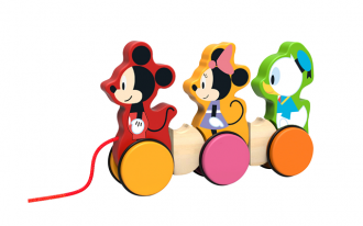 Disney Wooden Pull Along - Mickey Mouse